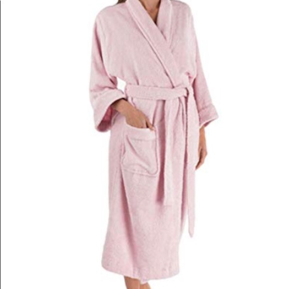 284034986047 Charter Club Intimates & Sleepwear   Turkish Cotton Terry Robe Pink ...